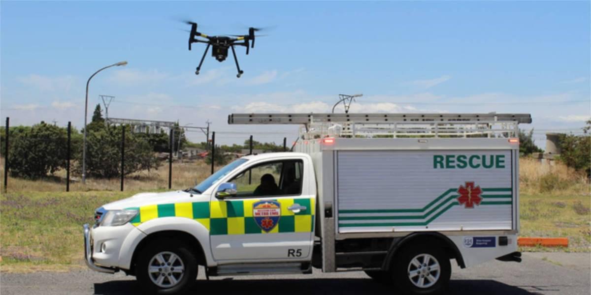 Drone rescue Table Mountain