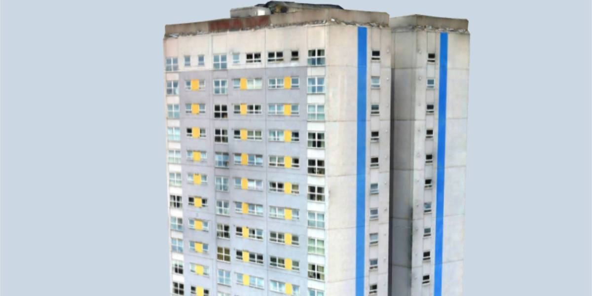 Drones inspect UK tower cladding