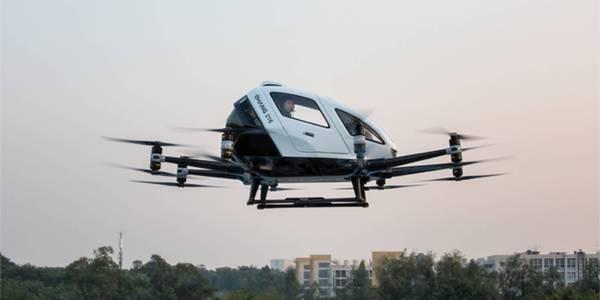 EHang autonomous eVTOL flight