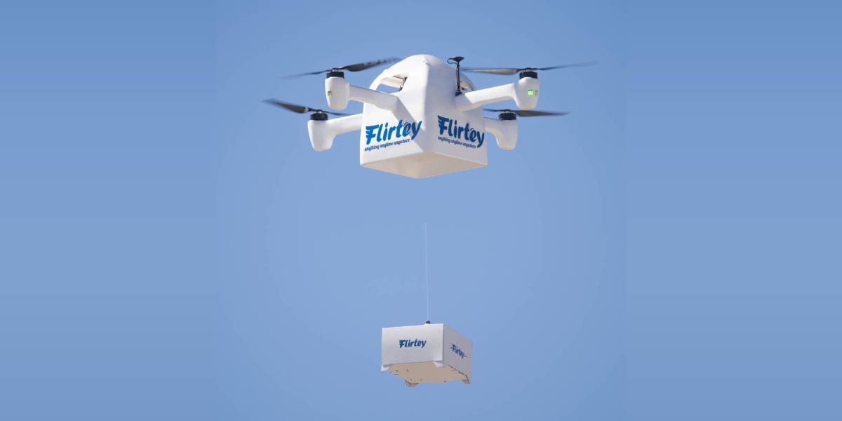 Flirtey Vault COVID-19 drone