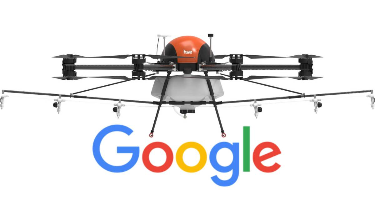 Google firefighting drones FAA