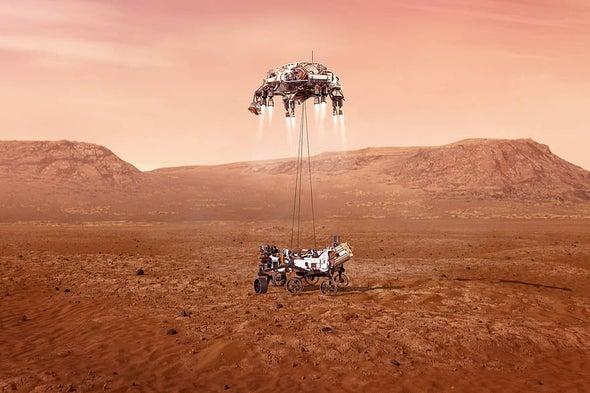 simulate a Martian landing
