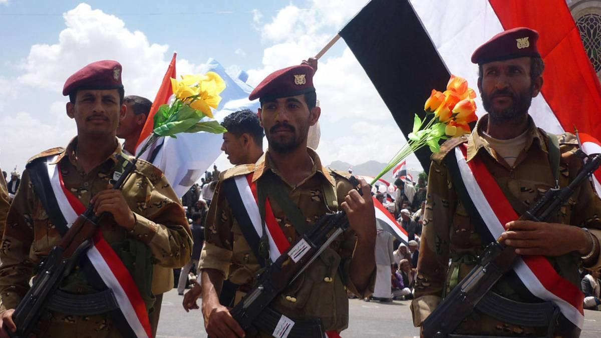 Saudi-led military Iran-backed Houthi drones forces