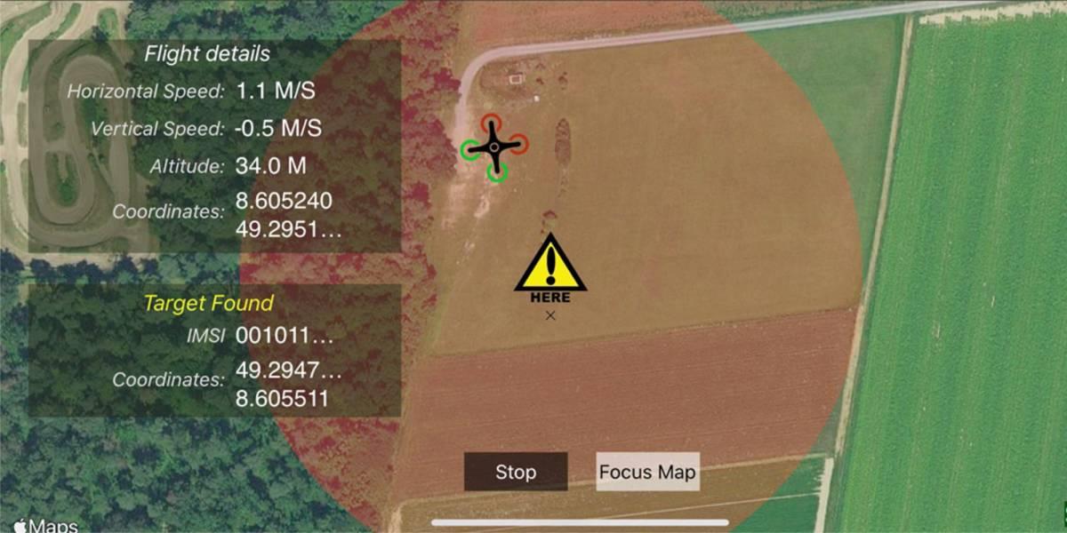 Search rescue drone phone