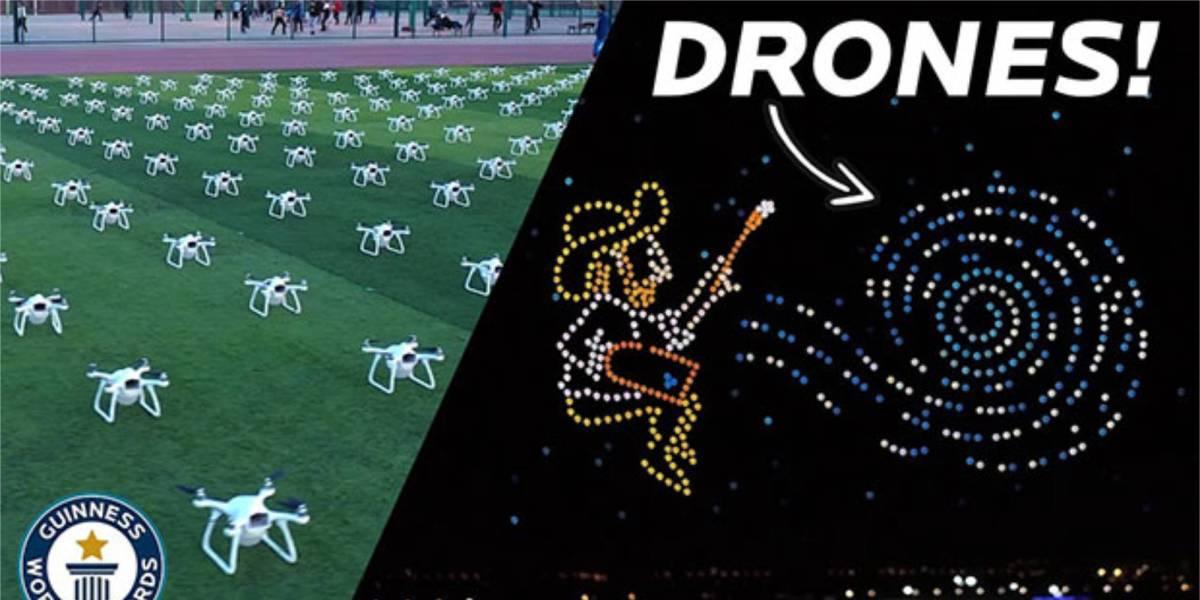 Vincent Van Gogh drone show