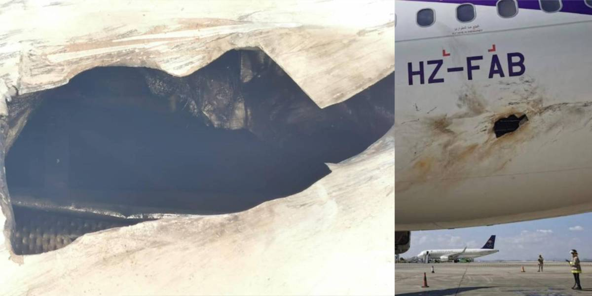airliner Houthi drone attack