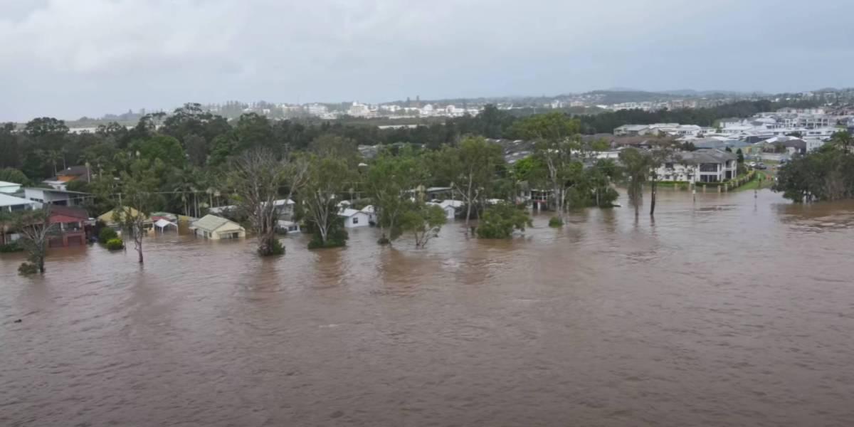 Drone Australia's east floods
