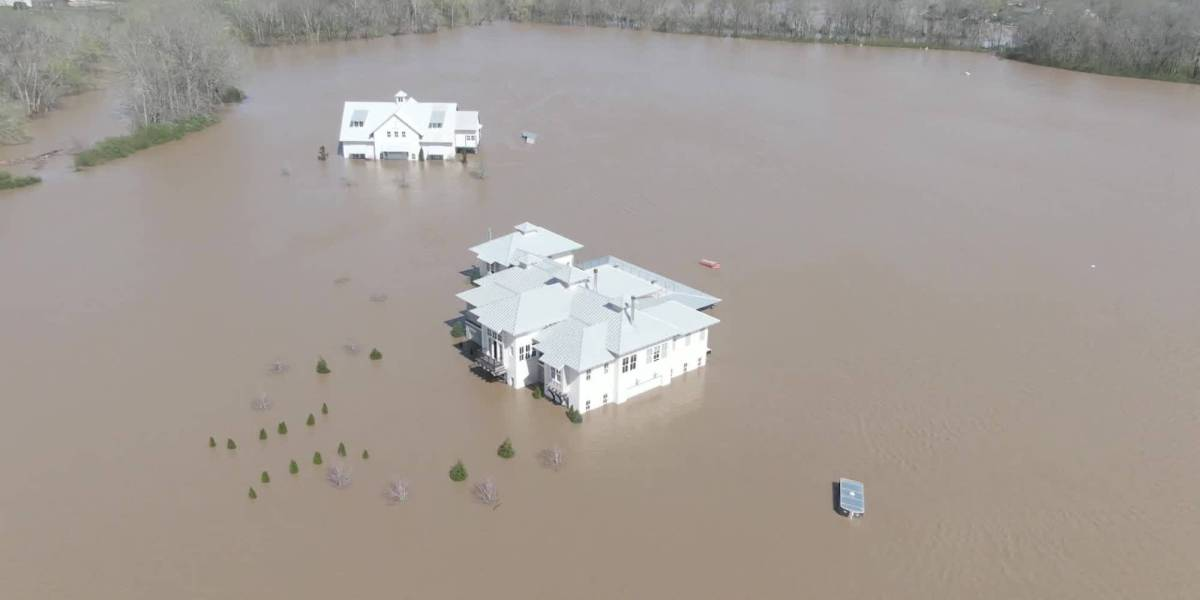 Drone video flooding Tennessee