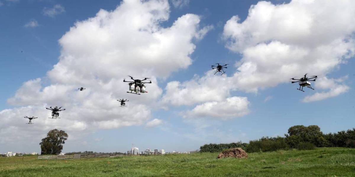 Israel's delivery drones trial drone AI control