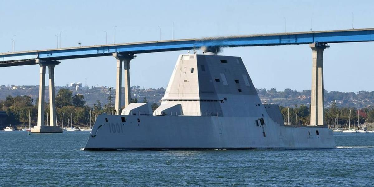 Navy destroyer swarm drones