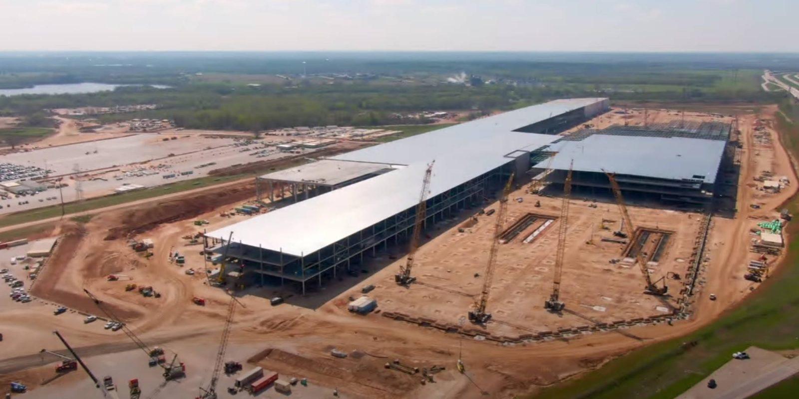 Tesla Texas Gigafactory drone construction update - DroneDJ