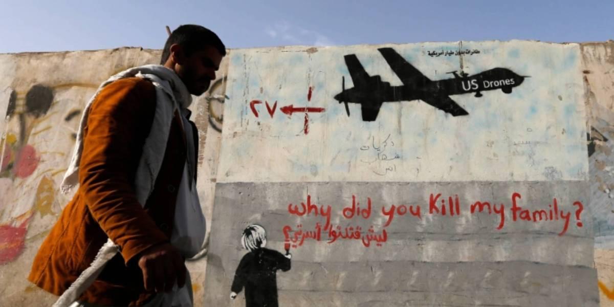 Yemeni men drone strikes