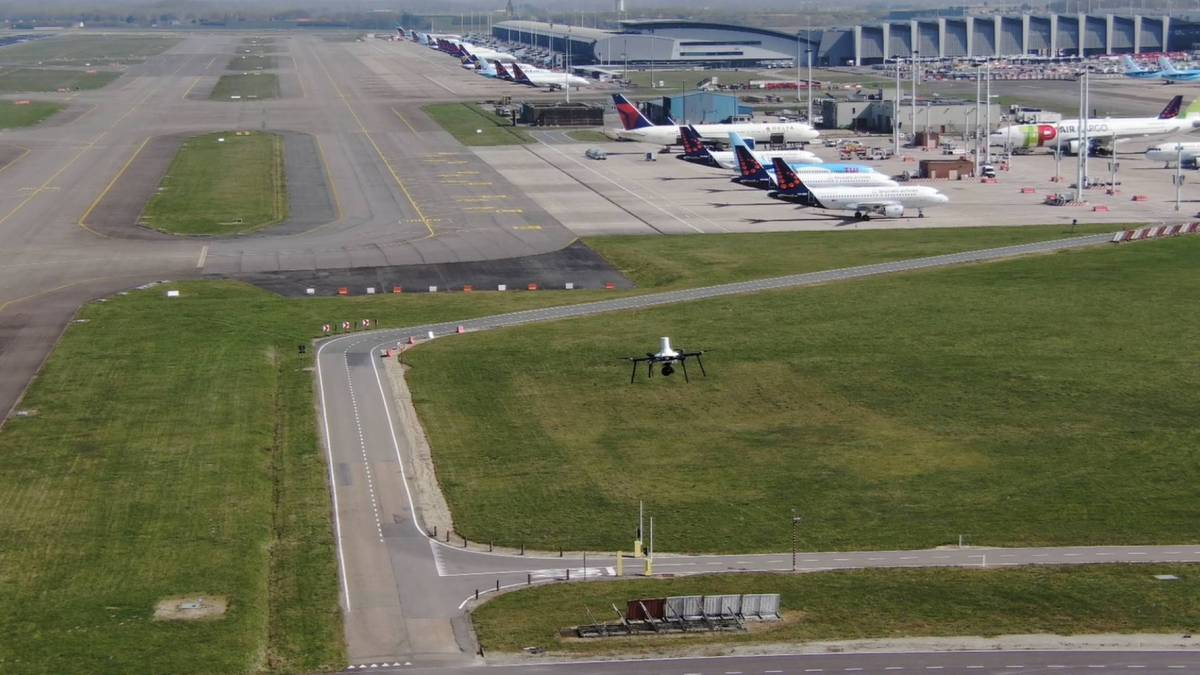 Brussels Airport drone startup