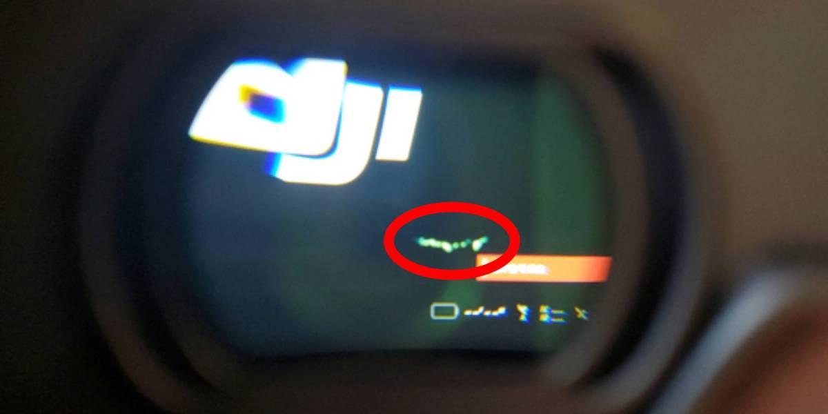 DJI Goggles green lines