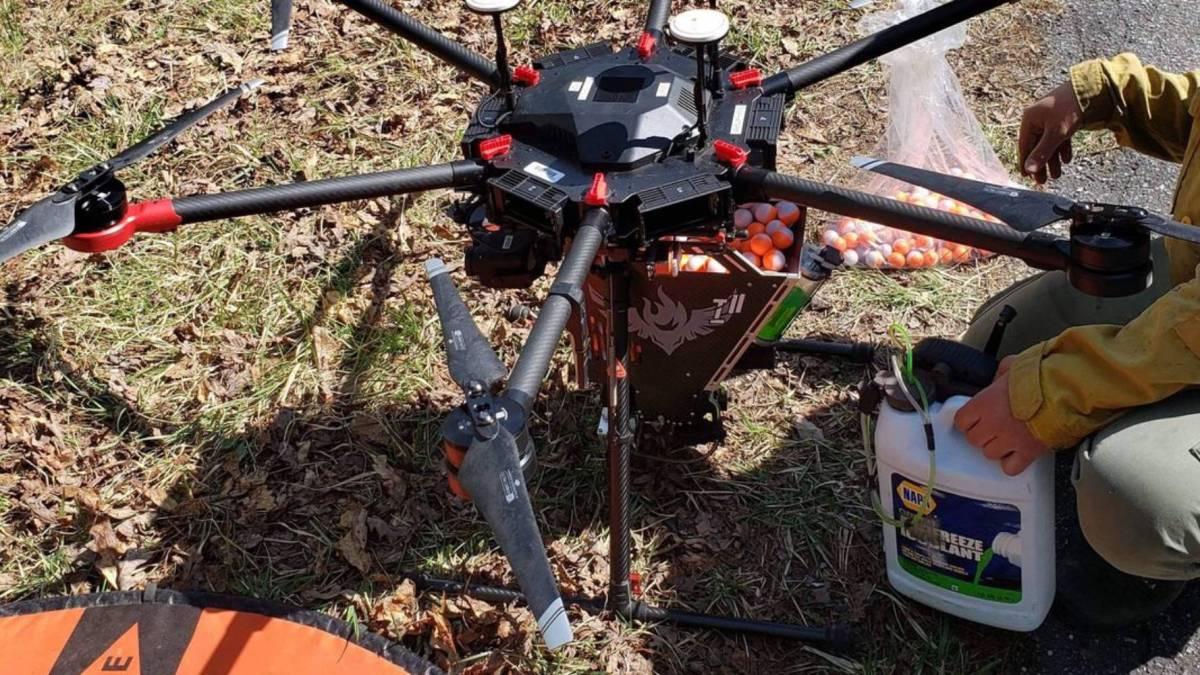 Drones prescribed burns Virginia