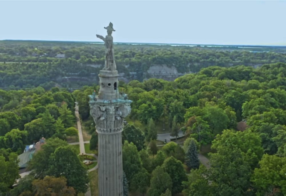 epically long drone journey of Niagara.