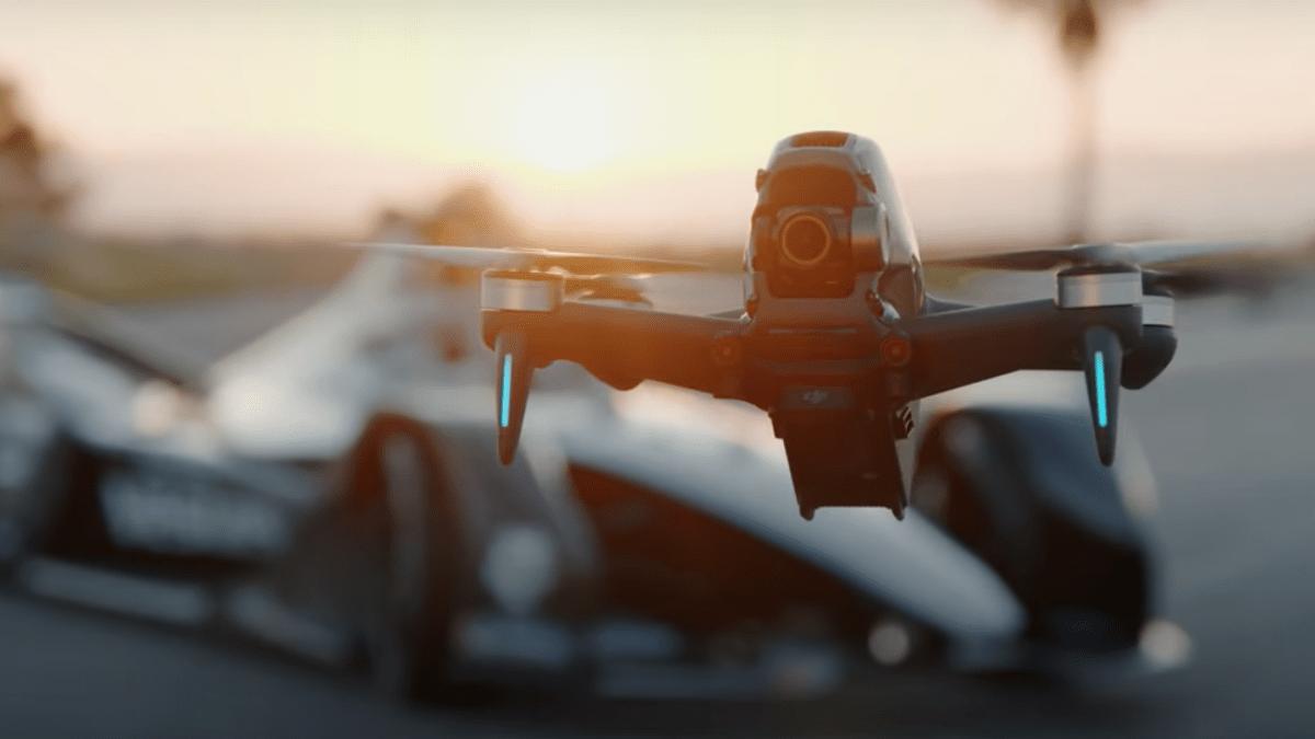 dji fpv drone racing car