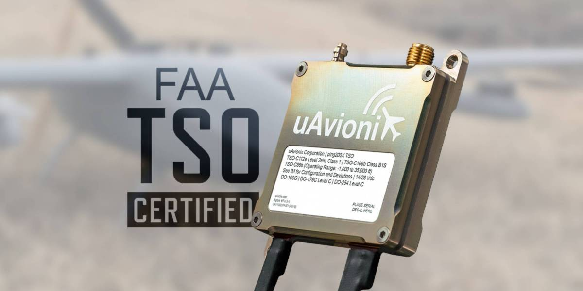 uAvionix ping200X FAA TSO
