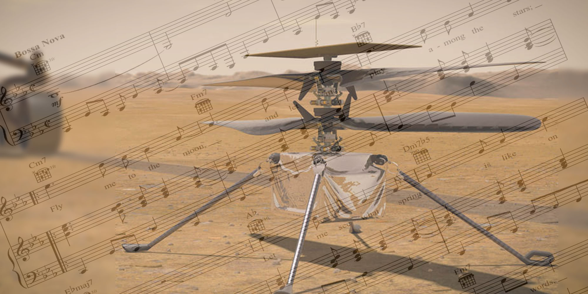 What a drone sounds like on Mars. Not like a theremin.