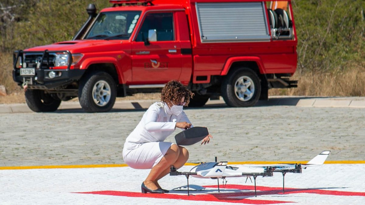medical drone delivery botswana