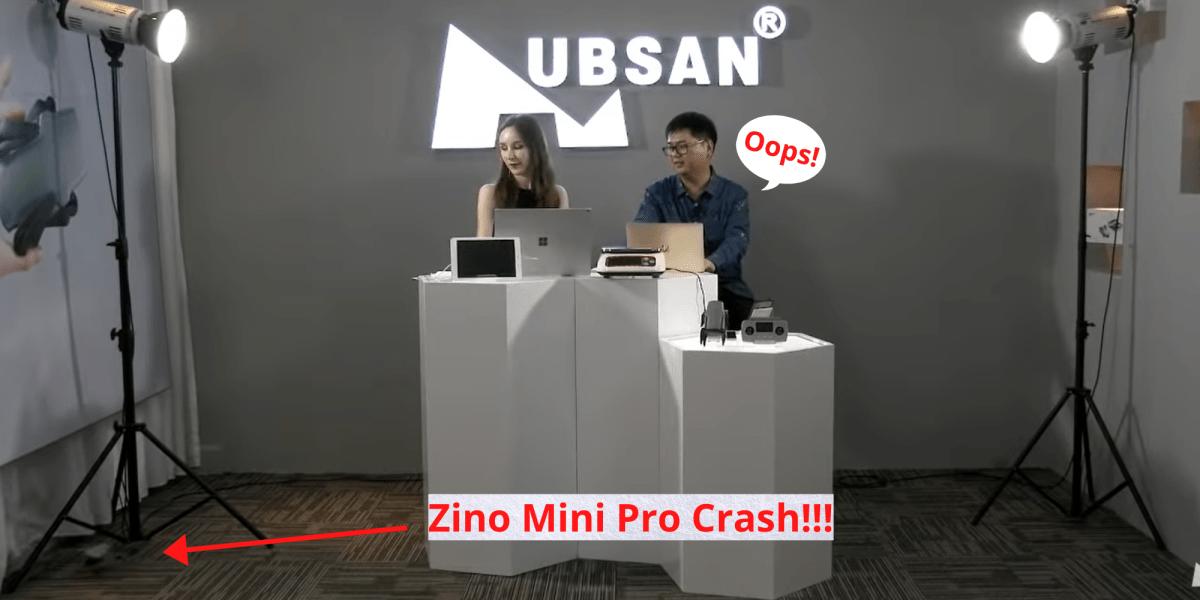 zino mini pro crash