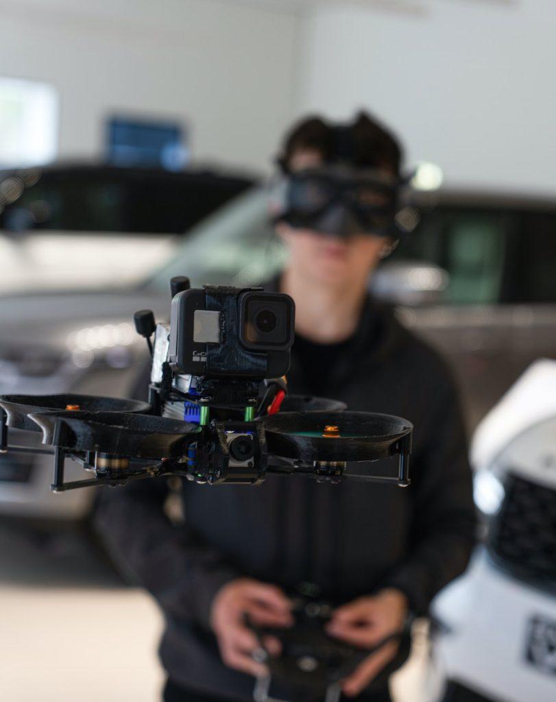 Jaguar Land Rover FPV drone tour