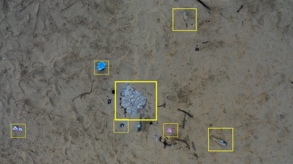 litter mapping drones