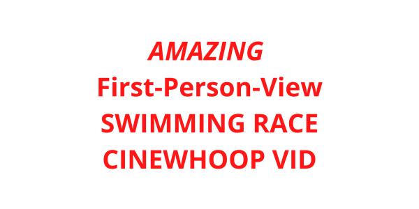 FPV drone video swimming pool
