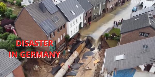 Drone video Germany sinkhole