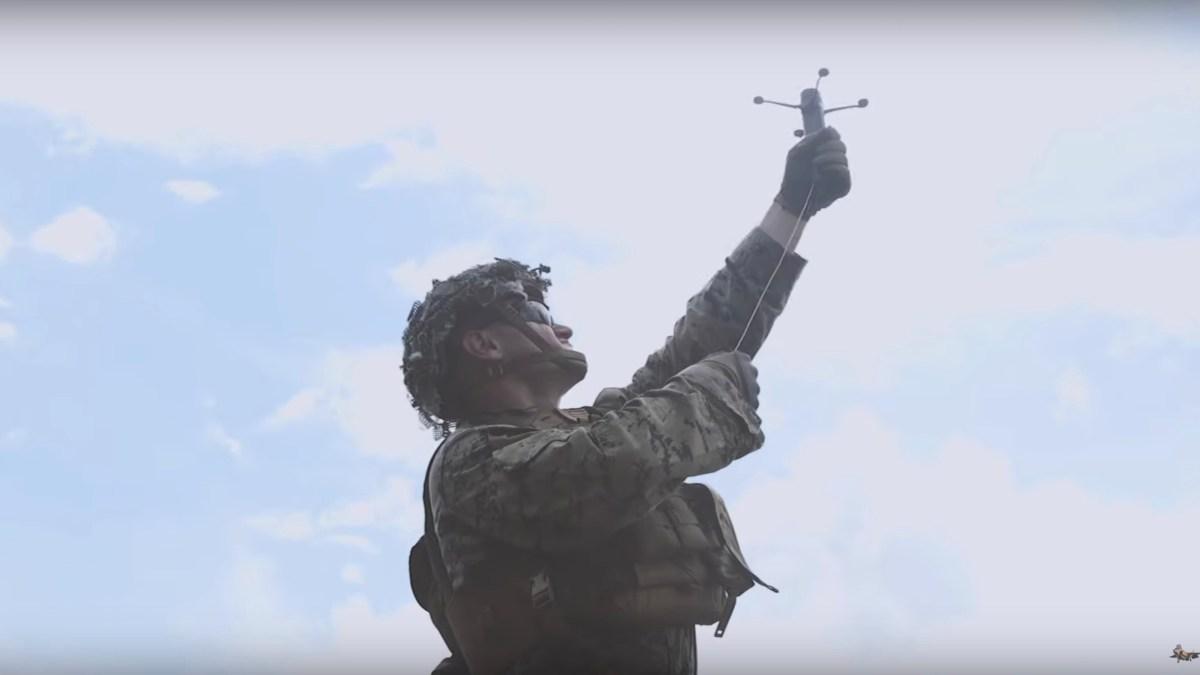 drones military grenade