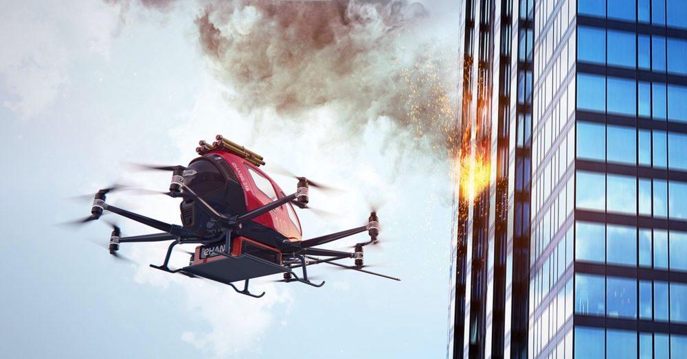 EHang EH216F firefighting drone