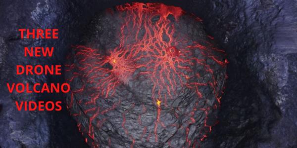 Drone volcano videos