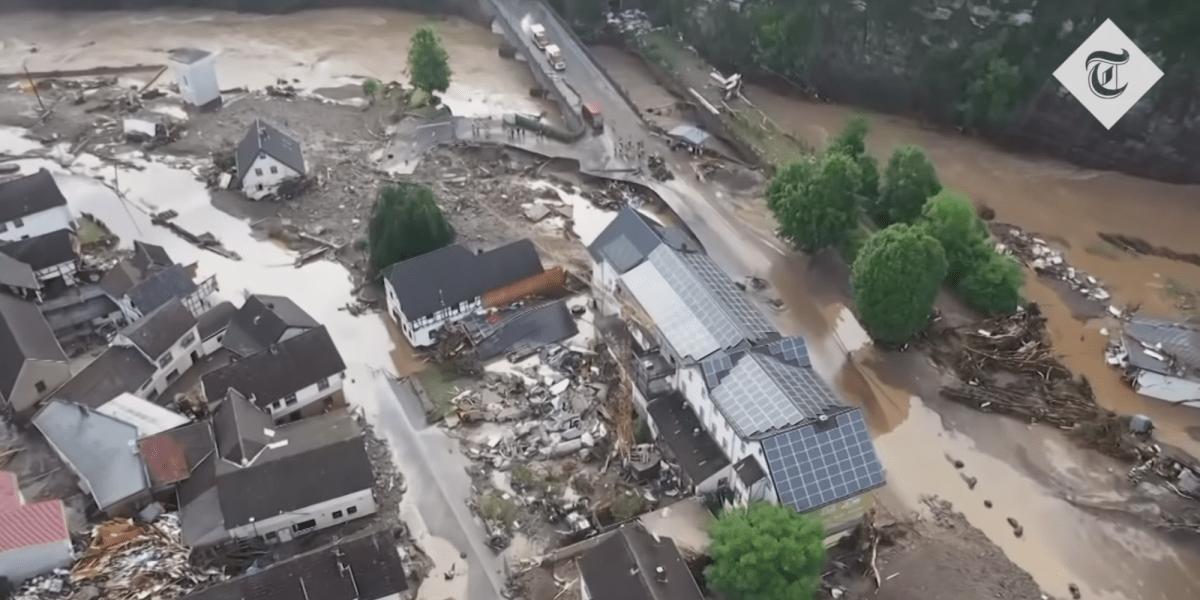drone German floods