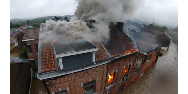 FPV drone video Belgium