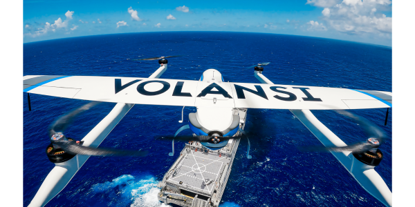 Volansi ship to ship drone delivery