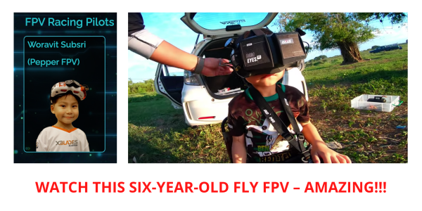 Six-year-old FPV pilot Thailand