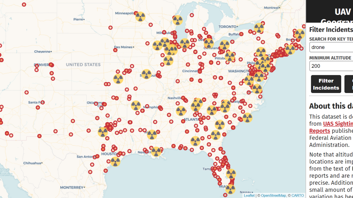 drone safety map US