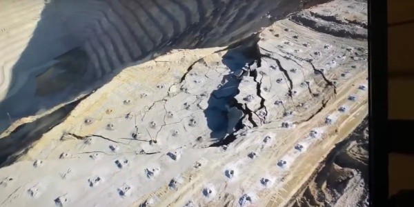 drone video landslide