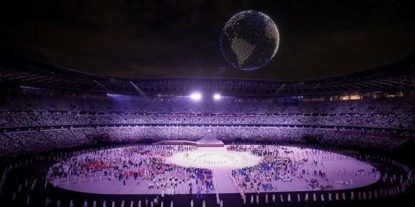 Intel Olympics drone light show