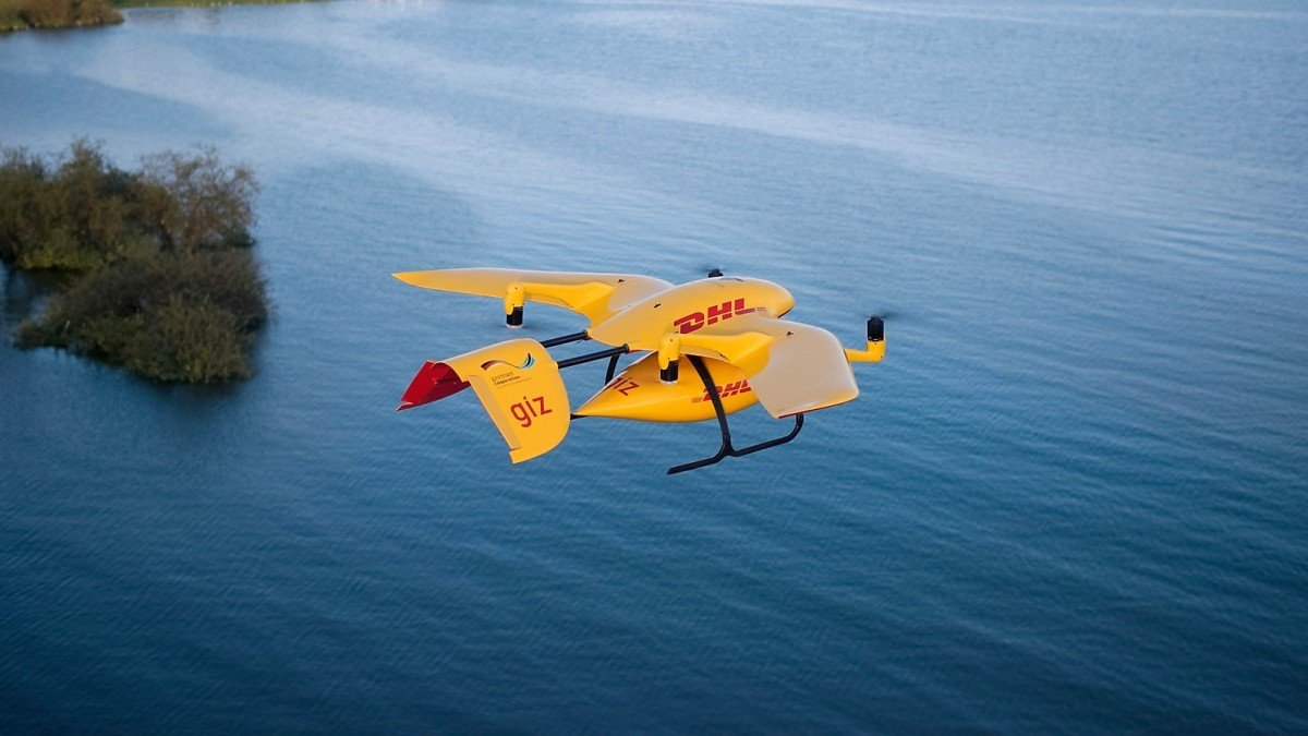 DHL delivery drone parcelcopter