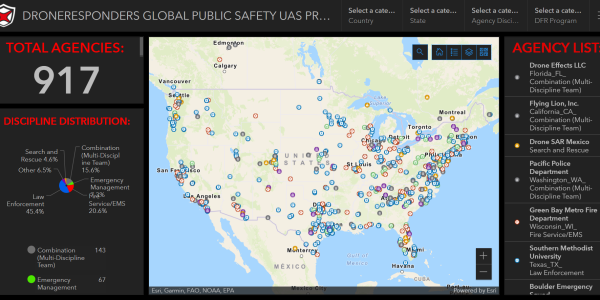 public safety drone map