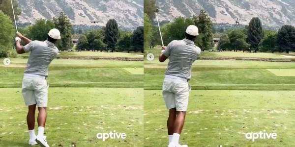 golf drone divot