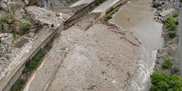 drone video mudslide