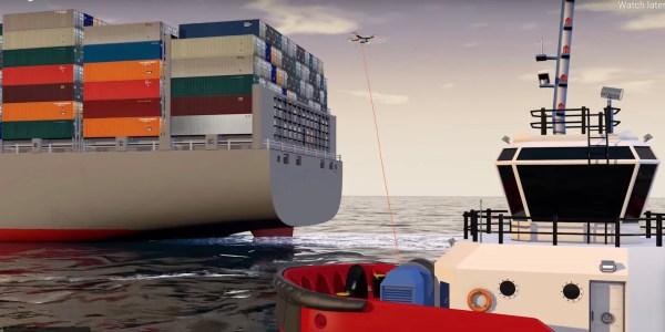 drones tug boats ships