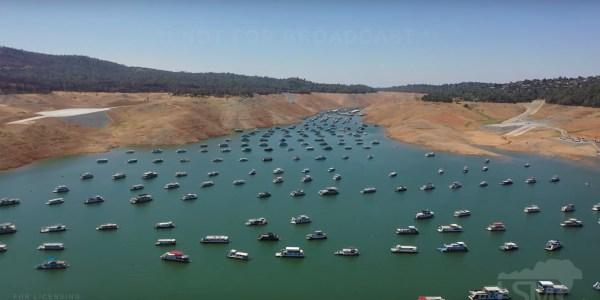 drone video California's drought