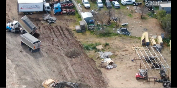 drone video illegal dumping