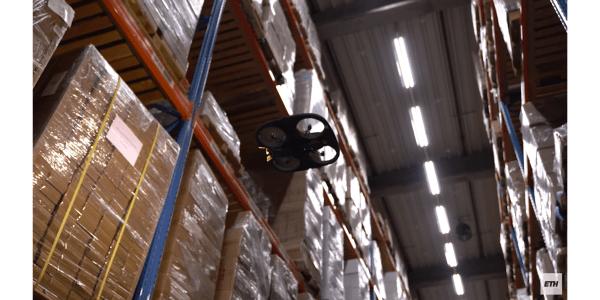 Autonomous drones warehouse