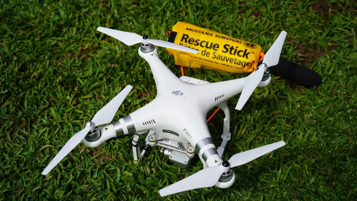beach rescue drone