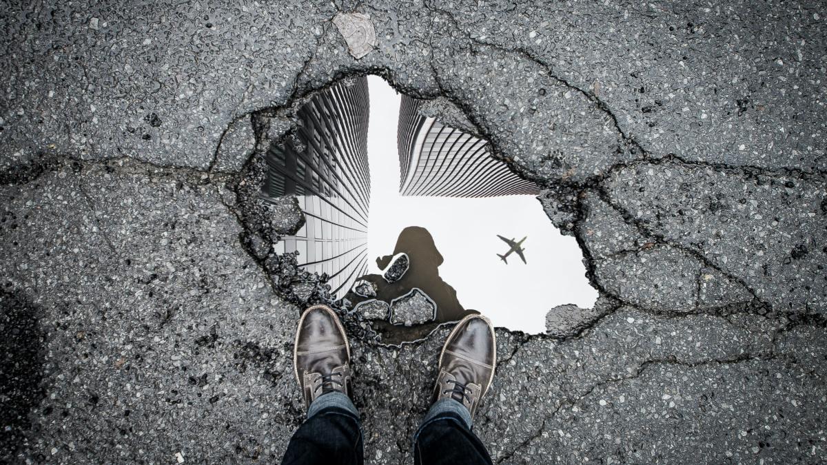 roads potholes drones