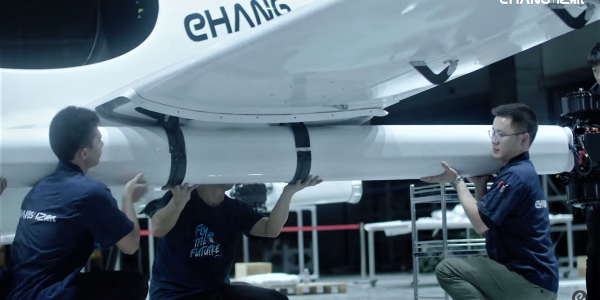 ehang flying taxi factory